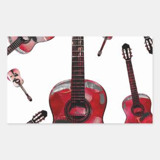 Classical guitar 02 jpg rectangular stickers