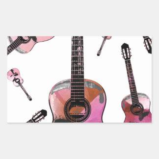 Classical guitar 03 jpg rectangle sticker