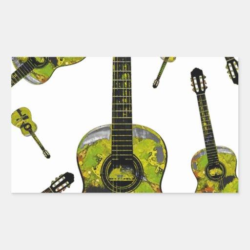 Classical guitar 04.jpg rectangular stickers