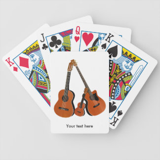 Classical Guitar Acoustic Bass and Ukulele Bicycle Playing Cards