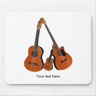 Classical Guitar Acoustic Bass and Ukulele Mouse Pad