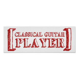 Classical Guitar Player Poster