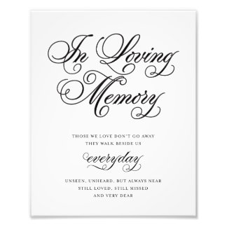 Classical | In Loving Memory Sign Photo