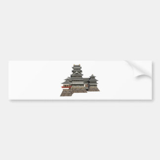 Classical Japanese Castle Bumper Sticker