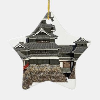 Classical Japanese Castle Ceramic Star Decoration
