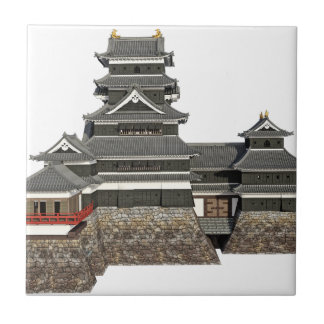 Classical Japanese Castle Ceramic Tile