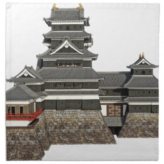 Classical Japanese Castle Napkin