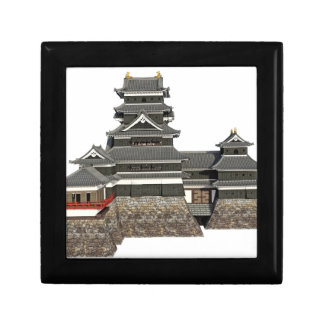 Classical Japanese Castle Small Square Gift Box