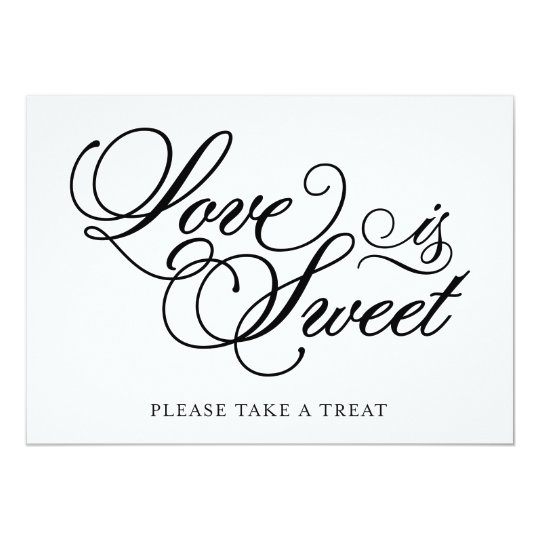 Classical | Love is Sweet Wedding Sign Card