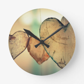 Classical Love Round Clock