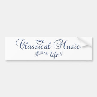 Classical Music bumpersticker Bumper Sticker