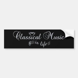 Classical Music bumpersticker Bumper Sticker