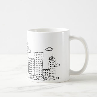 Classical Music Cartoon Skyline Mug