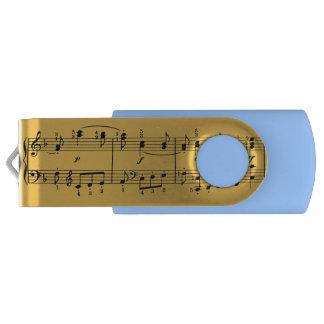 Classical Music Notes USB Flash Drive Swivel USB 2.0 Flash Drive