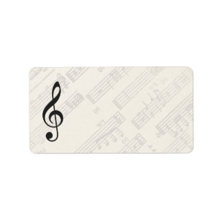 Classical Music Sheet | Blank Address Label