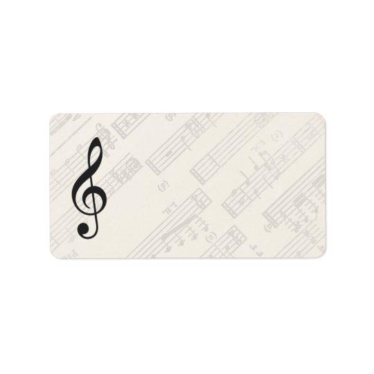 Classical Music Sheet | Blank Address Label