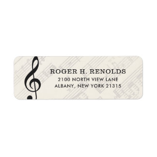 Classical Music Sheet | Return Address Return Address Label