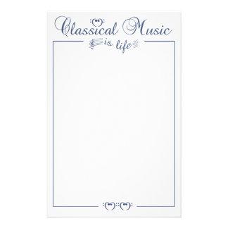 Classical Music stationary customizable Personalized Stationery