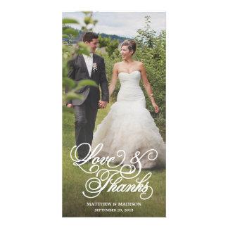Classical Overlay   Wedding Thank You Photo Card
