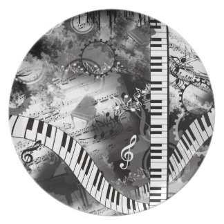 Classical Piano Music Graphic Plate