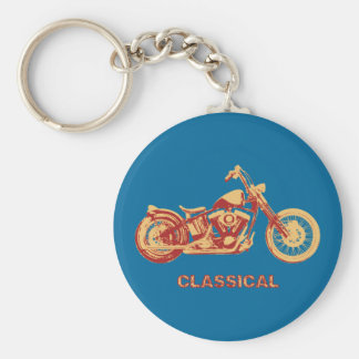 Classical -red basic round button key ring