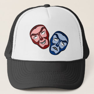 Classical Theater Face Masks Trucker Hat