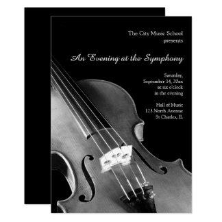 Classical Violin Symphony Recital Invitations