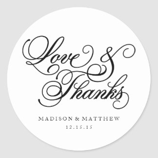 Classical | Wedding Favor Labels