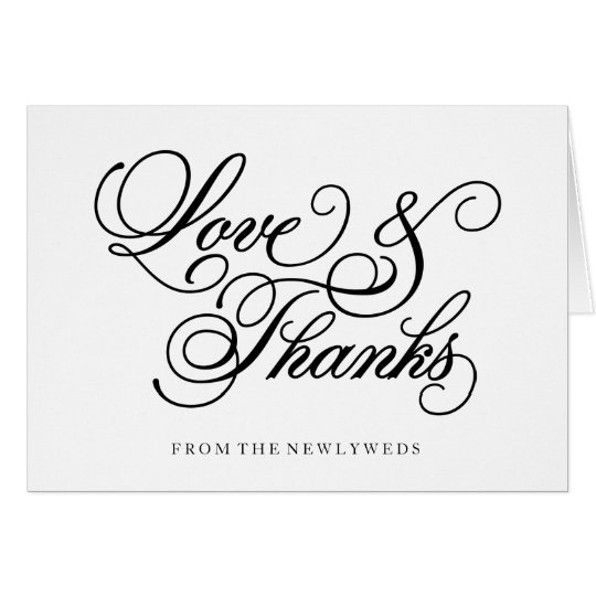Classical | Wedding Thank You Note Card