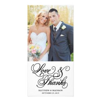 Classical   Wedding Thank You Photo Card