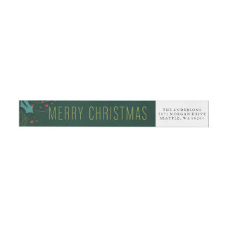Classically Fresh Address Label Wraparound Return Address Label