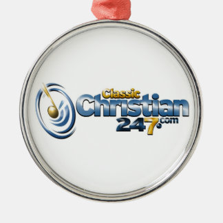 ClassicChristian247.com Premium Round Ornament