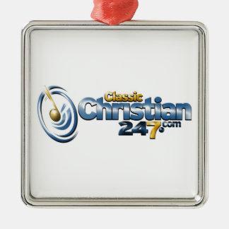 ClassicChristian247.com Premium Square Ornament
