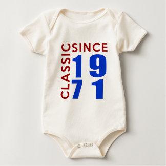 Classice Since 1971 Birthday Designs Baby Bodysuit