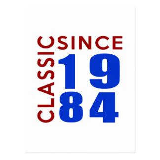 Classice Since 1984 Birthday Designs Postcard