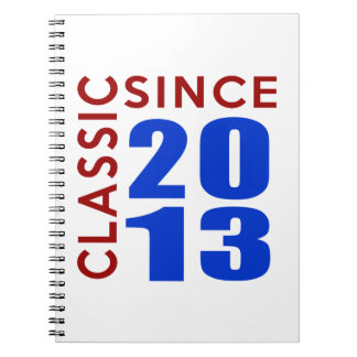 Classice Since 2013 Birthday Designs Spiral Note Books