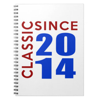 Classice Since 2014 Birthday Designs Spiral Note Book