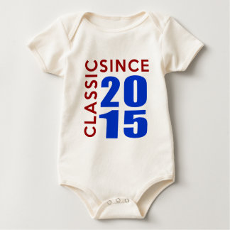 Classice Since 2015 Birthday Designs Baby Bodysuit