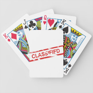 Classified Stamp Bicycle Playing Cards