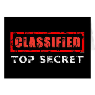 Classified Top Secret Card