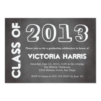 Classroom chalkboard student graduation stylish 13 cm x 18 cm invitation card