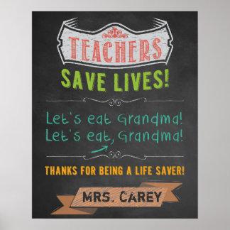 Classroom Decor - Teacher Appreciation Poster