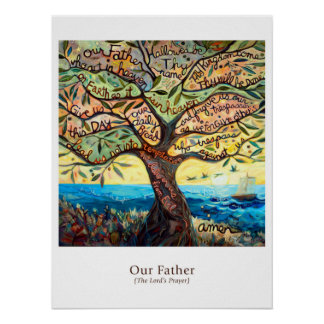 """Classroom Poster featuring the """"Our Father"""""""
