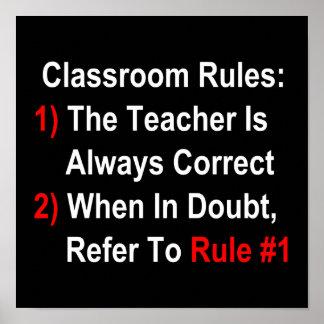 Classroom Rules dark Print