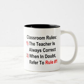Classroom Rules Two-Tone Coffee Mug