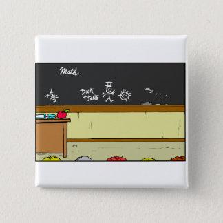 Classroom Scene 15 Cm Square Badge