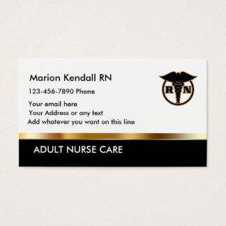 Classy Adult Nurse Care Business Card