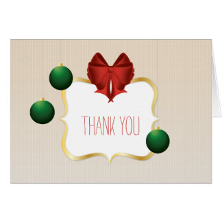 Classy and customizable striped pattern Thank You Card