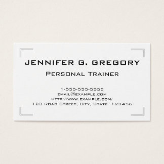 Classy and Elegant Personal Trainer Business Card