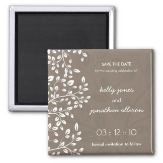 Classy and Elegant Save the Date Wedding Magnet